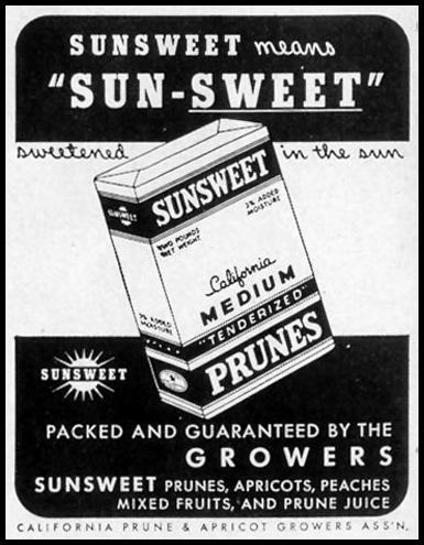 SUNSWEET PRUNES LIFE 11/08/1943 p. 110