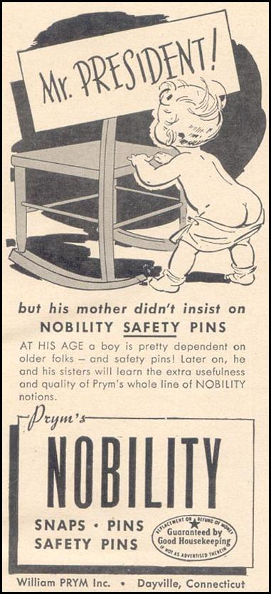 PRYM'S NOBILITY SAFETY PINS GOOD HOUSEKEEPING 07/01/1949 p. 173
