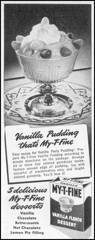 MY-T-FINE PUDDING WOMAN'S DAY 06/01/1946 p. 74