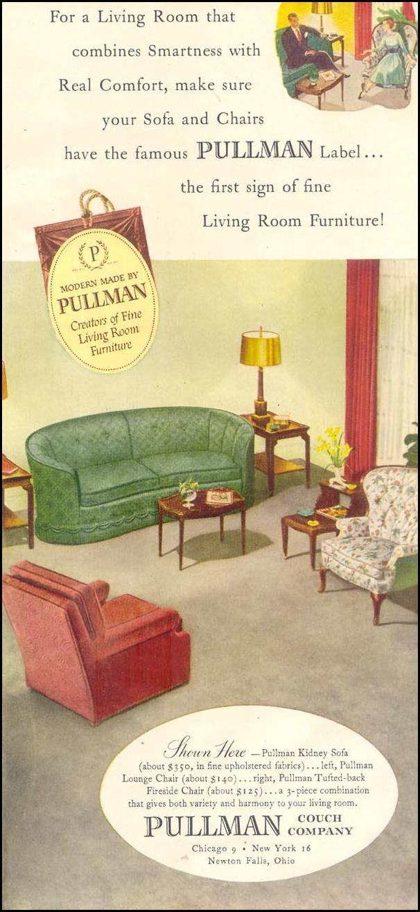 PULLMAN FURNITURE GOOD HOUSEKEEPING 07/01/1948