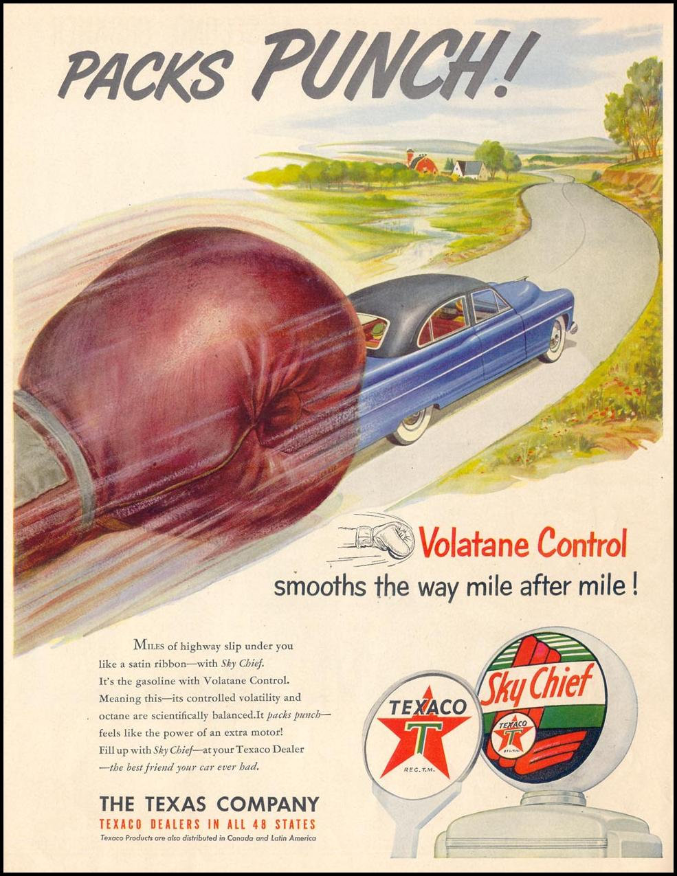 TEXACO SKY CHIEF GASOLINE LIFE 07/30/1951 p. 38