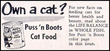 PUSS 'N BOOTS CAT FOOD LIFE 10/19/1953 p. 179