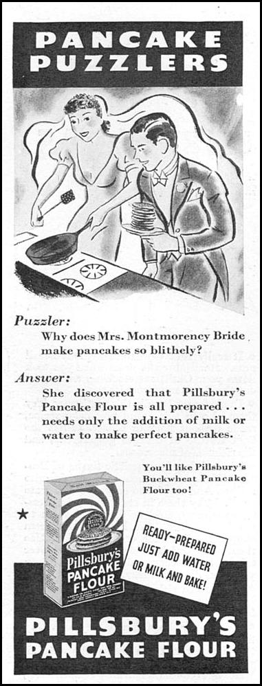 PILLSBURY'S PANCAKE FLOUR GOOD HOUSEKEEPING 12/01/1934 p. 160