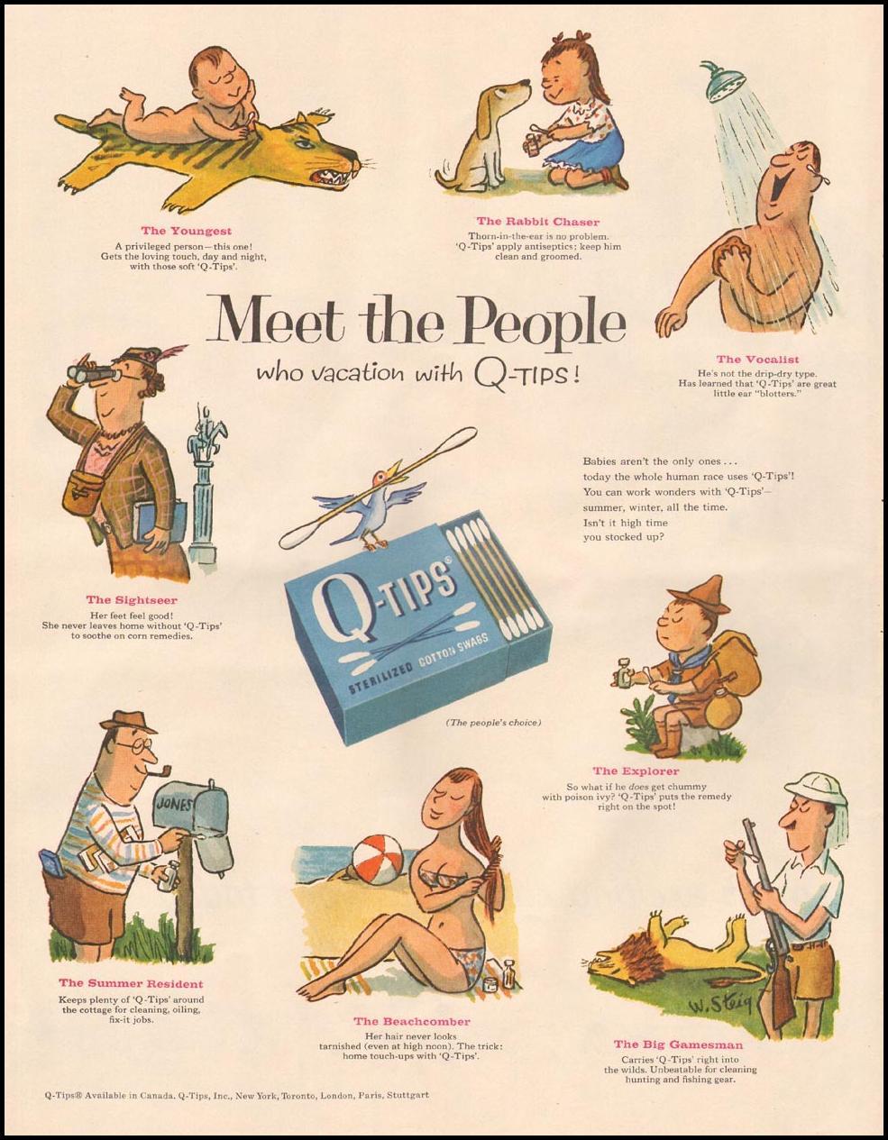 Q-TIP COTTON SWABS LIFE 06/24/1957 p. 120