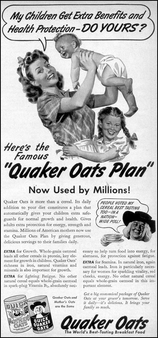 QUAKER OATS WOMAN'S DAY 09/01/1947 p. 105