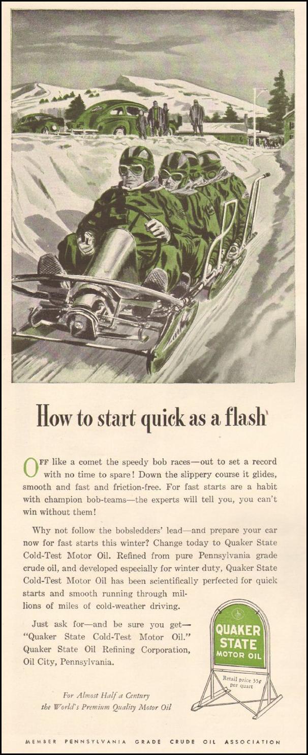 QUAKER STATE MOTOR OIL LIFE 11/25/1946 p. 86