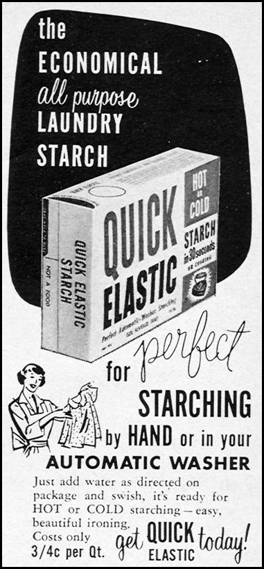 QUICK ELASTIC STARCH WOMAN'S DAY 04/01/1956 p. 126