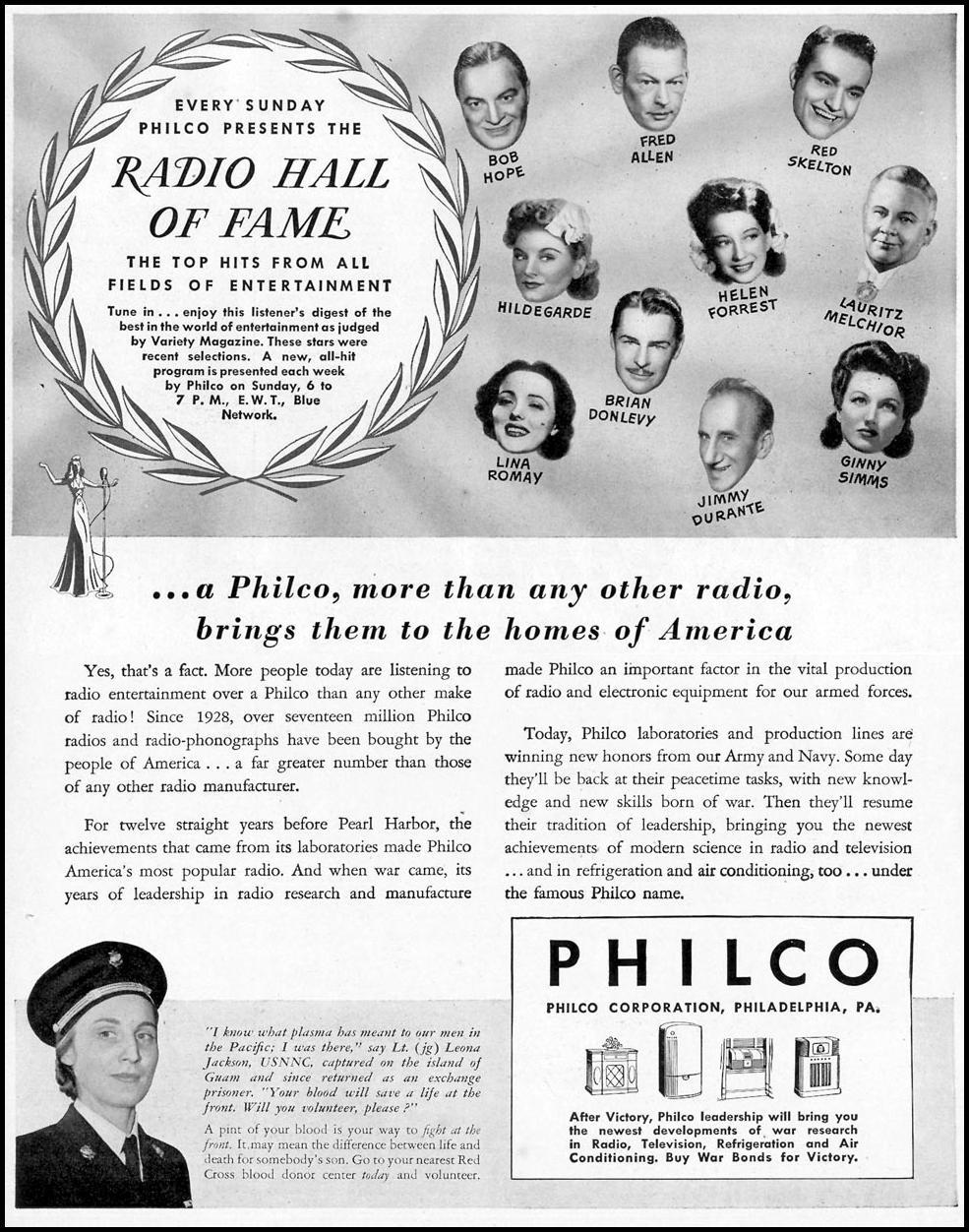 PHILCO RADIOS LIFE 02/21/1944 p. 1