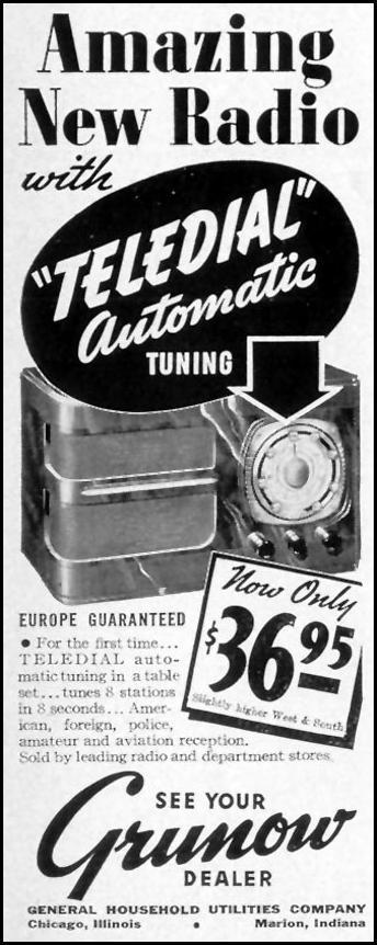 GRUNOW TELEDIAL RADIO LIFE 07/26/1937 p. 87