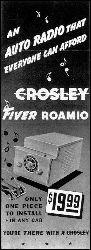 CROSLEY FIVER ROAMIO AUTO RADIO LIFE 08/02/1937 p. 76