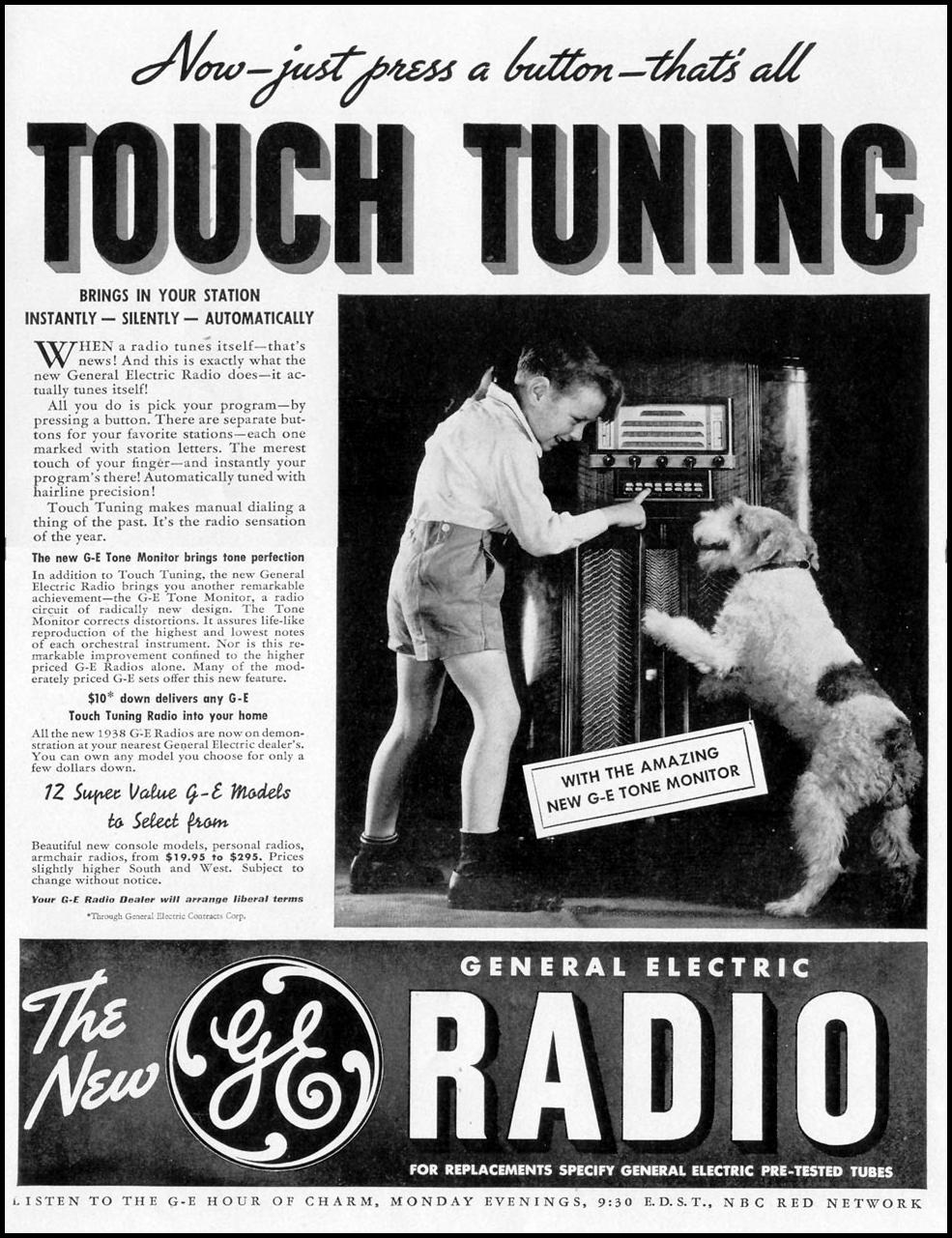THE NEW G. E. RADIO WITH TOUCH TUNING LIFE 08/30/1937 p. 83