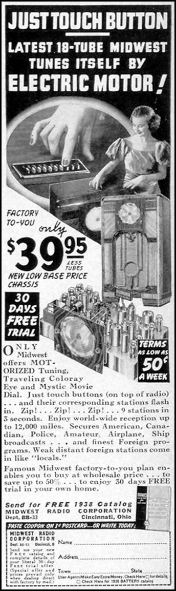MIDWEST 18-TUBE RADIO LIFE 09/06/1937 p. 100