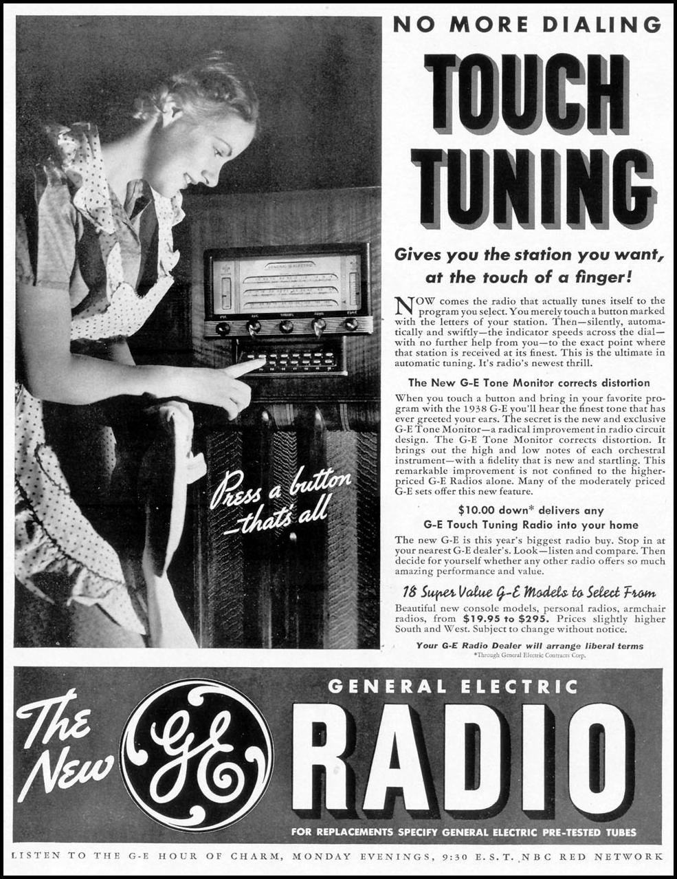 GENERAL ELECTRIC TONE MONITOR RADIO LIFE 09/20/1937 p. 19