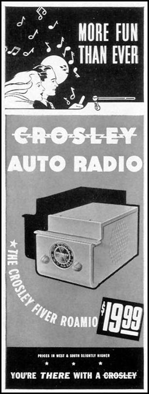 THE CROSLEY FIVER ROAMIO AUTO RADIO LIFE 09/27/1937 p. 92