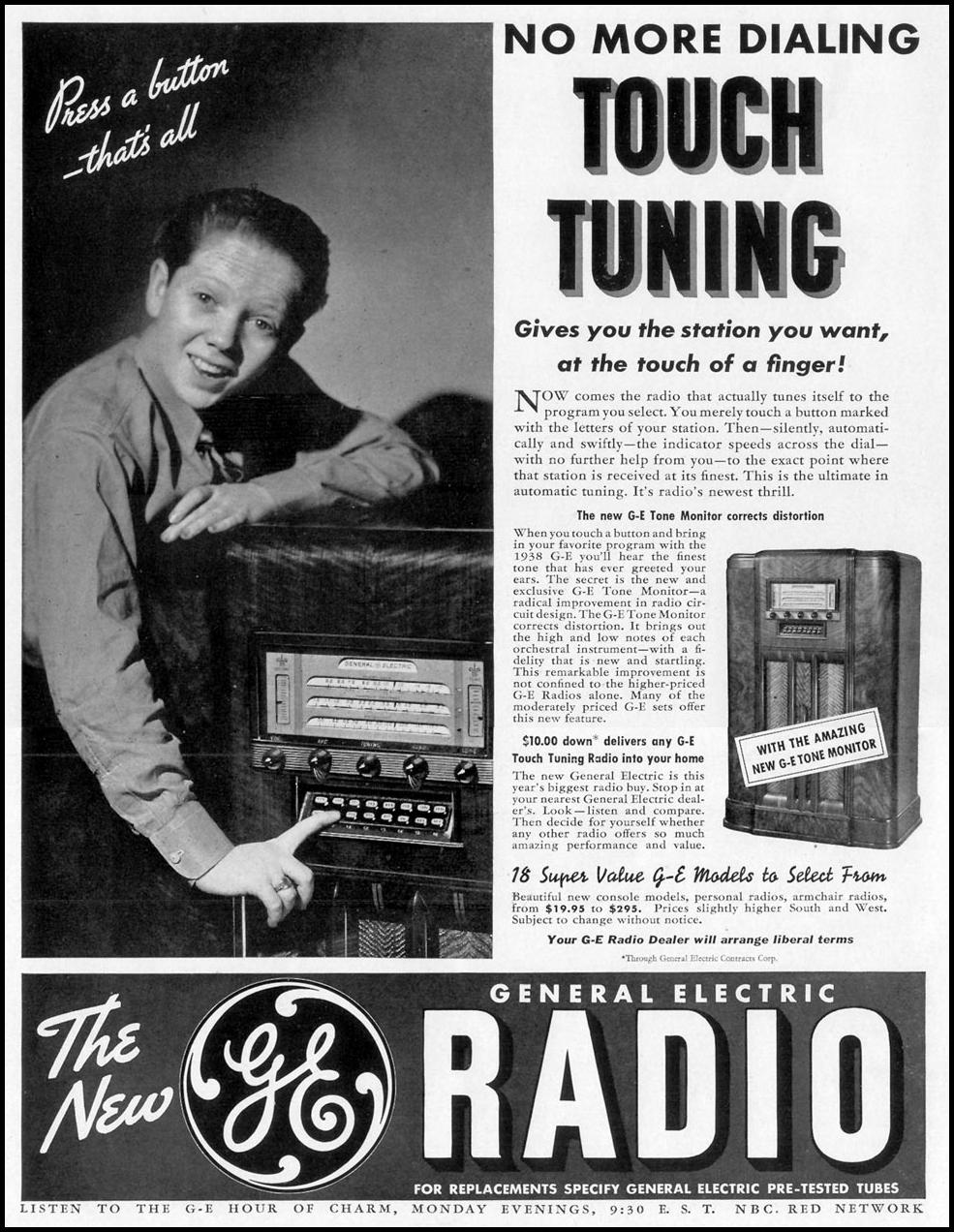 GENERAL ELECTRIC TONE MONITOR RADIO LIFE 10/04/1937 p. 18