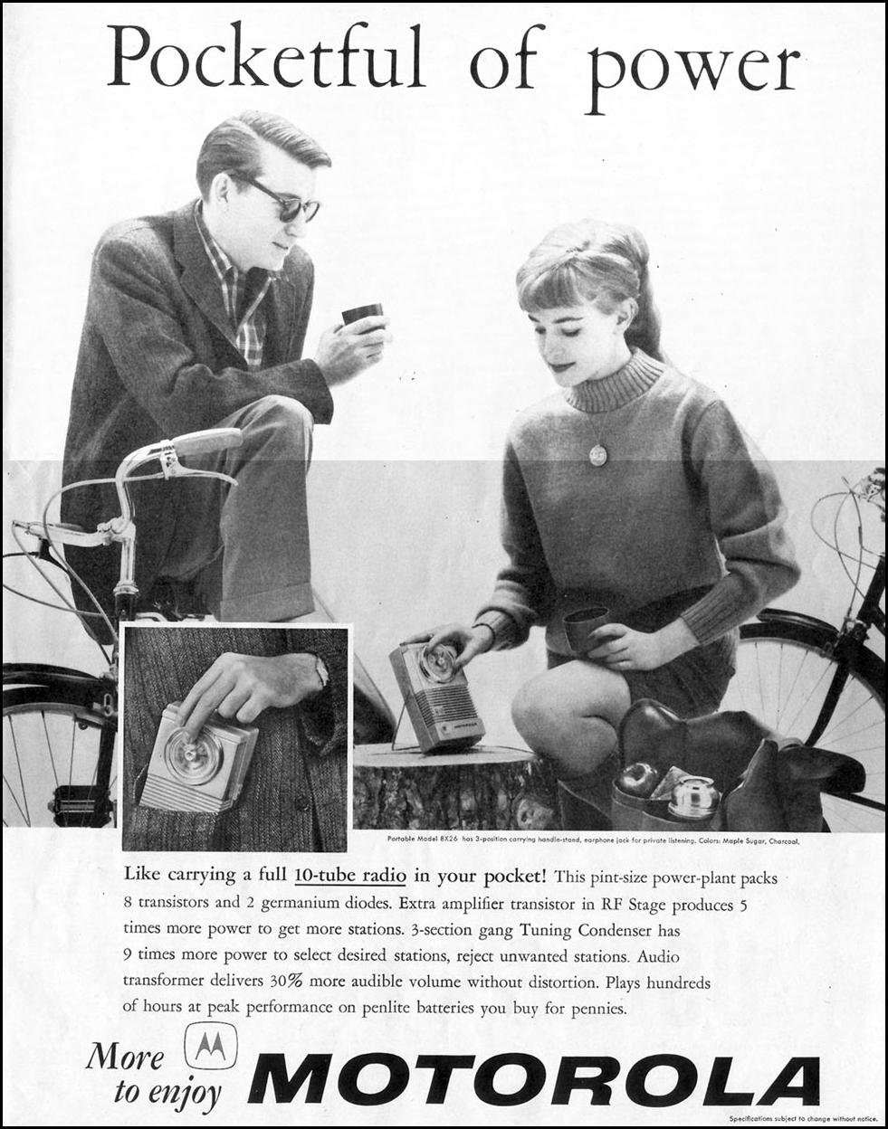 MOTOROLA TRANSISTOR RADIO SATURDAY EVENING POST 05/02/1959 p. 89