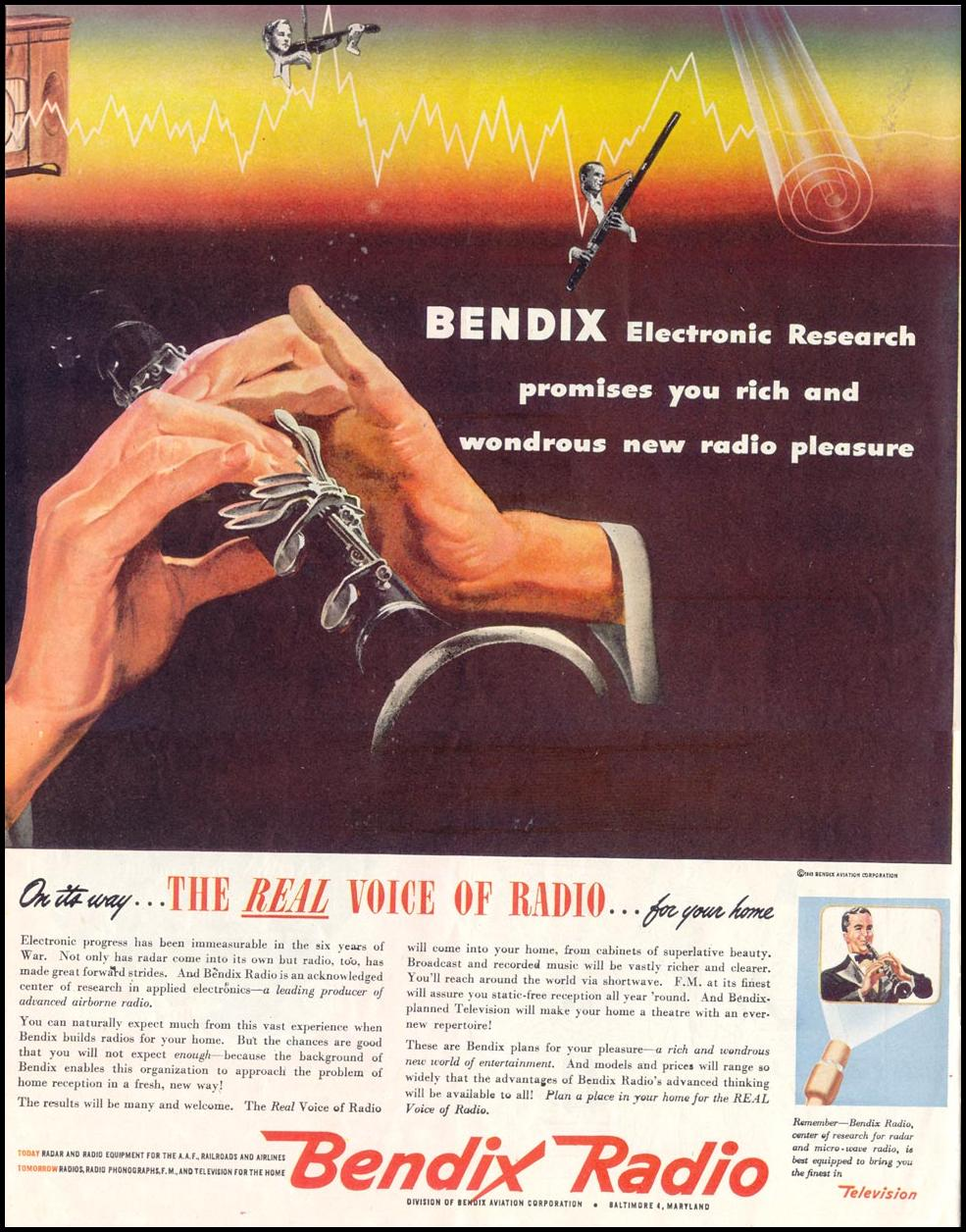 BENDIX RADIO SATURDAY EVENING POST 05/19/1945 p. 66