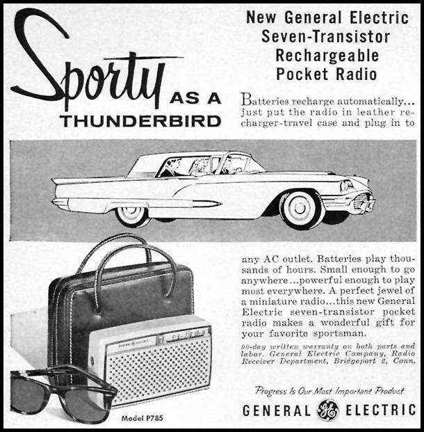 SEVEN-TRANSISTOR RECHARGEABLE POCKET RADIO SPORTS ILLUSTRATED 05/11/1959 p. 40