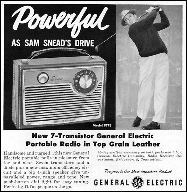 7-TRANSISTOR PORTABLE RADIO SPORTS ILLUSTRATED 05/25/1959 p. 83