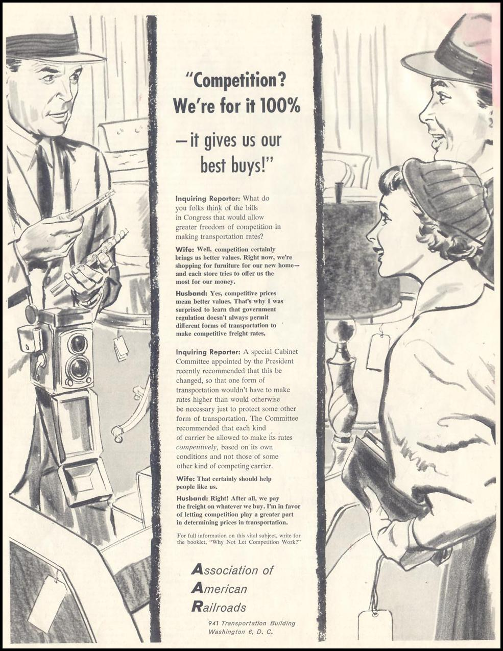 RAIL COMMERCE SATURDAY EVENING POST 12/10/1955 p. 75