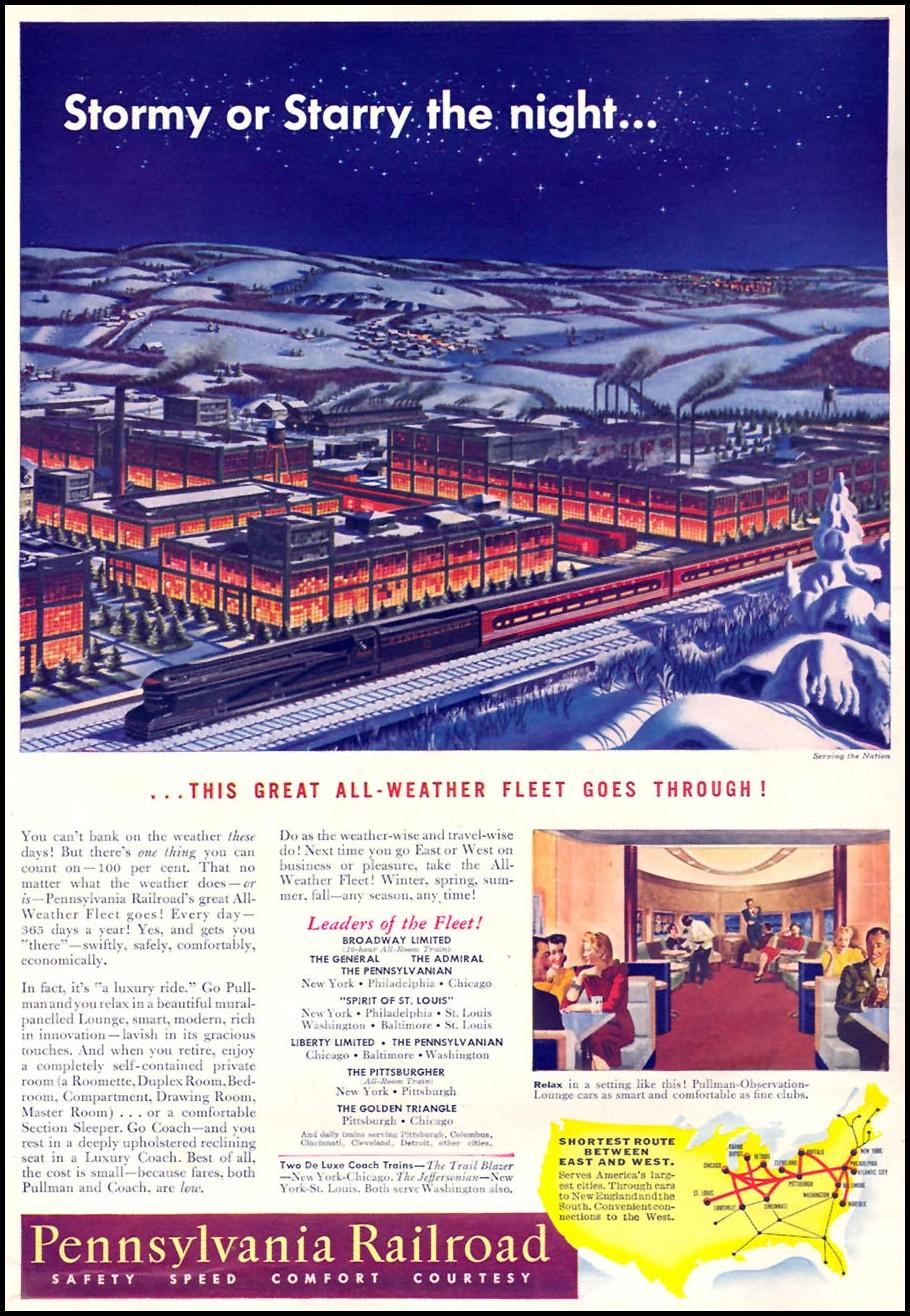 RAIL TRAVEL TIME 01/12/1942 INSIDE FRONT
