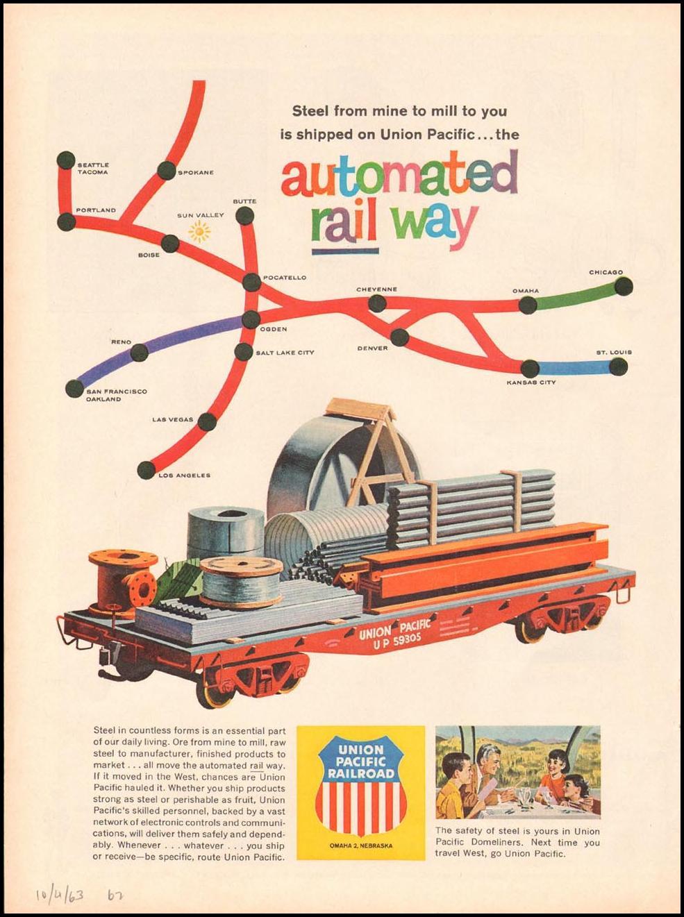 RAIL SERVICE TIME 10/04/1963 p. 62