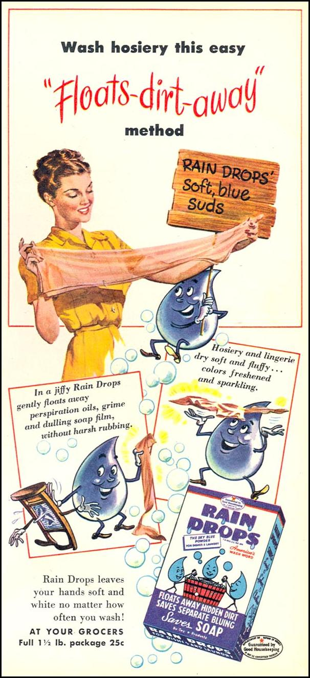 RAIN DROPS LAUNDRY SOAP WOMAN'S DAY 05/01/1947 p. 61