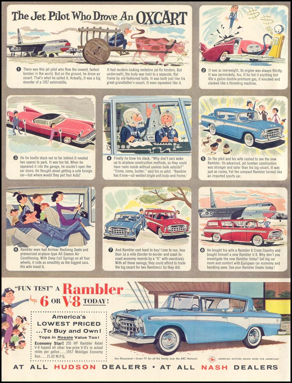 RAMBLER AUTOMOBILES LIFE 07/01/1957 INSIDE FRONT