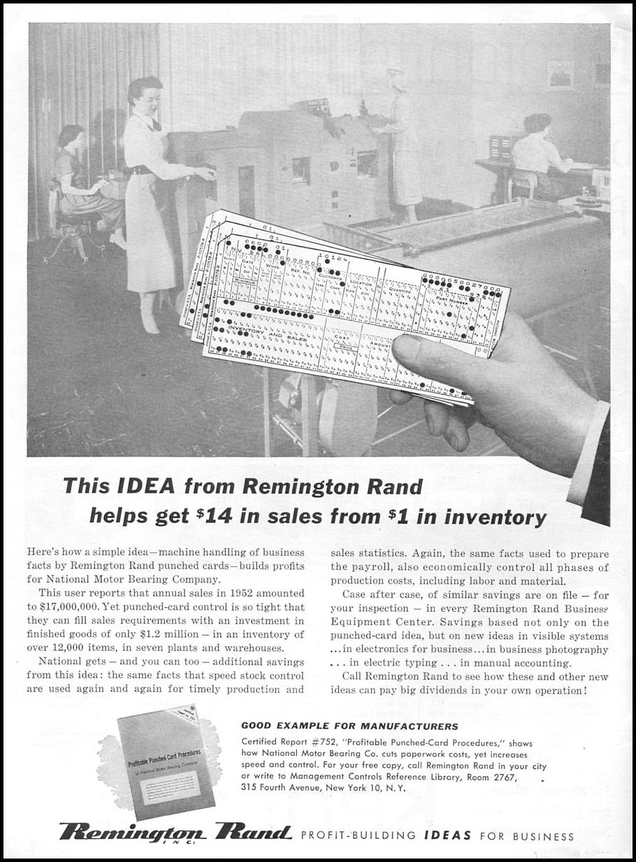 REMINGTON RAND PUNCHED CARD SYSTEMS TIME 06/08/1953 p. 54