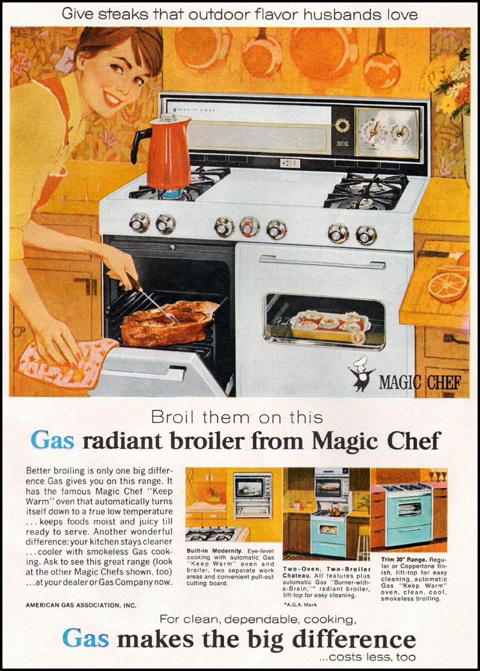 MAGIC CHEF GAS RANGE GOOD HOUSEKEEPING 10/01/1965 p. 151
