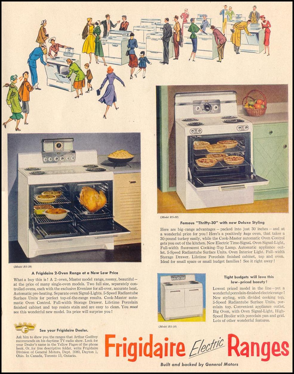 FRIGIDAIRE ELECTRIC RANGES LIFE 04/13/1953 p. 127