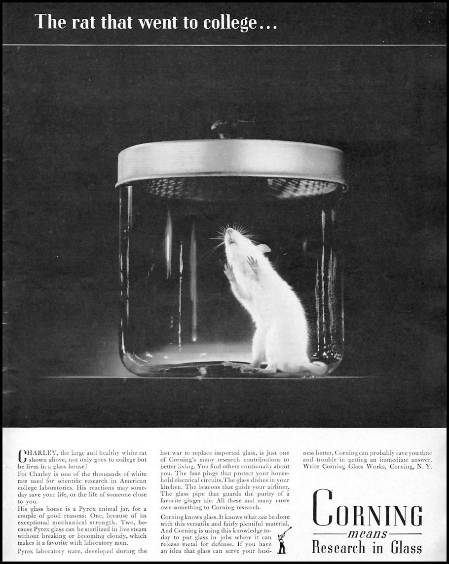 CORNING PYREX GLASS TIME 01/12/1942 p. 73