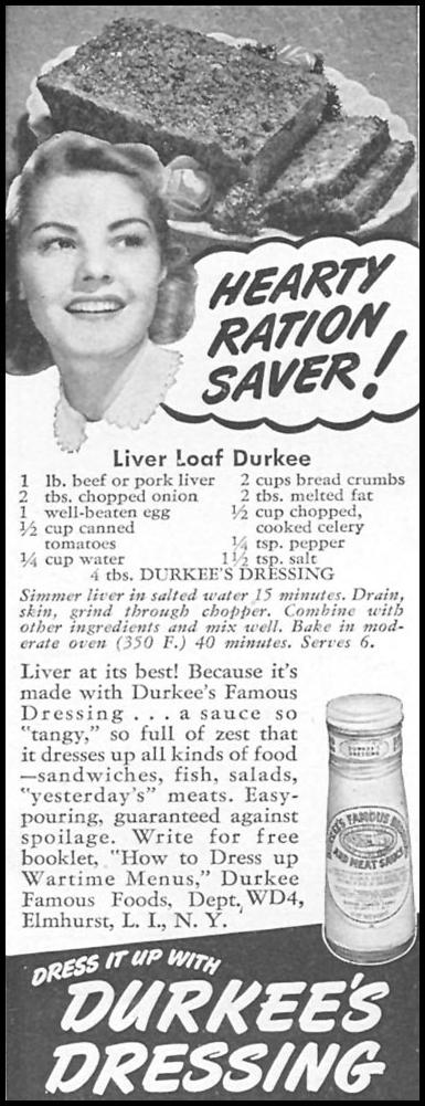 DURKEE'S DRESSING WOMAN'S DAY 04/01/1943 p. 64