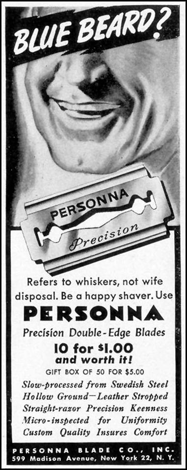 PERSONNA PRECISION DOUBLE EDGE RAZOR BLADES LIFE 11/08/1943 p. 18