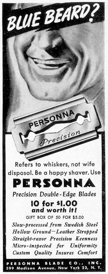PERSONNA PRECISION DOUBLE EDGE RAZOR BLADES LIFE 11/08/1943 p. 18