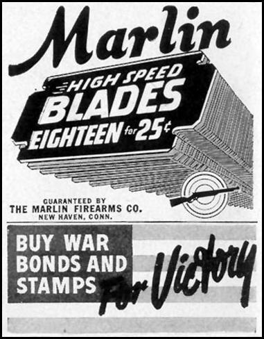MARLIN RAZOR BLADES LIFE 11/08/1943 p. 122
