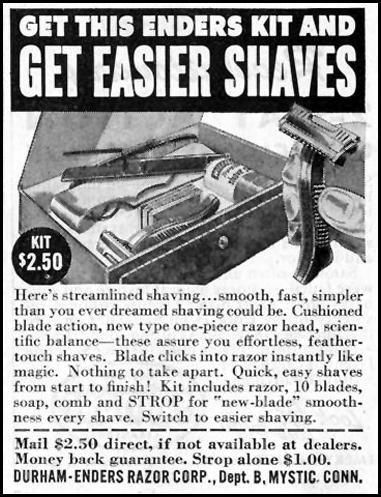 ENDERS RAZOR KIT SATURDAY EVENING POST 10/06/1945 p. 107