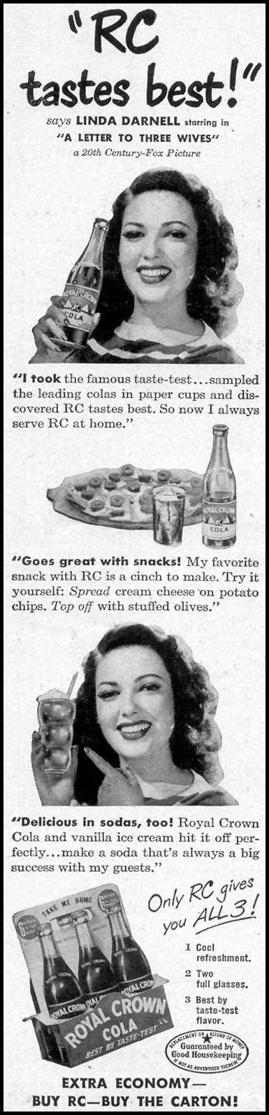 ROYAL CROWN COLA WOMAN'S DAY 05/01/1949 p. 20