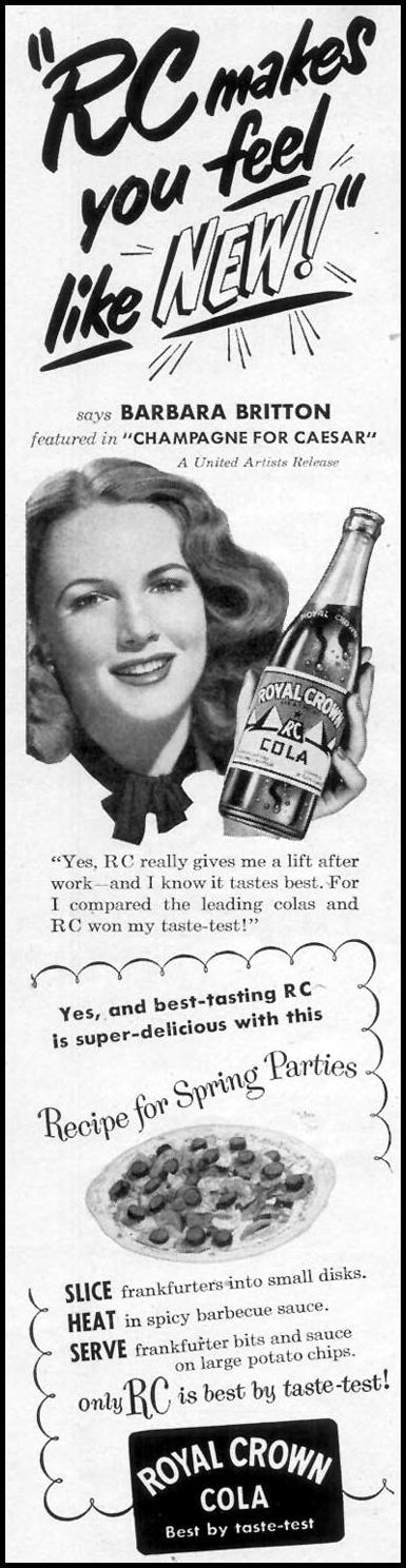 ROYAL CROWN COLA WOMAN'S DAY 05/01/1950 p. 86