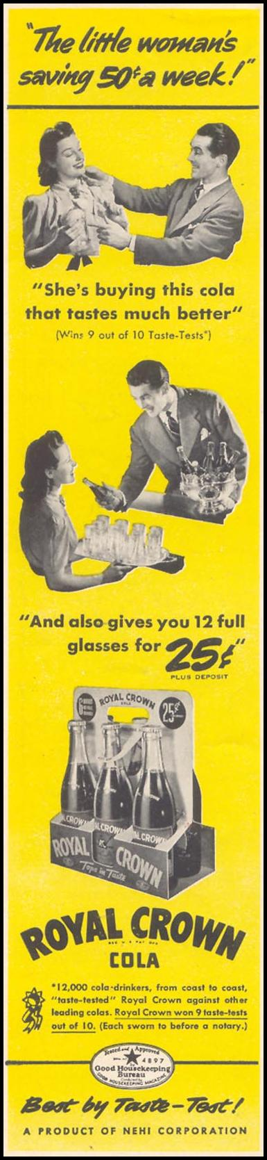 ROYAL CROWN COLA WOMAN'S DAY 07/01/1940 p. 46