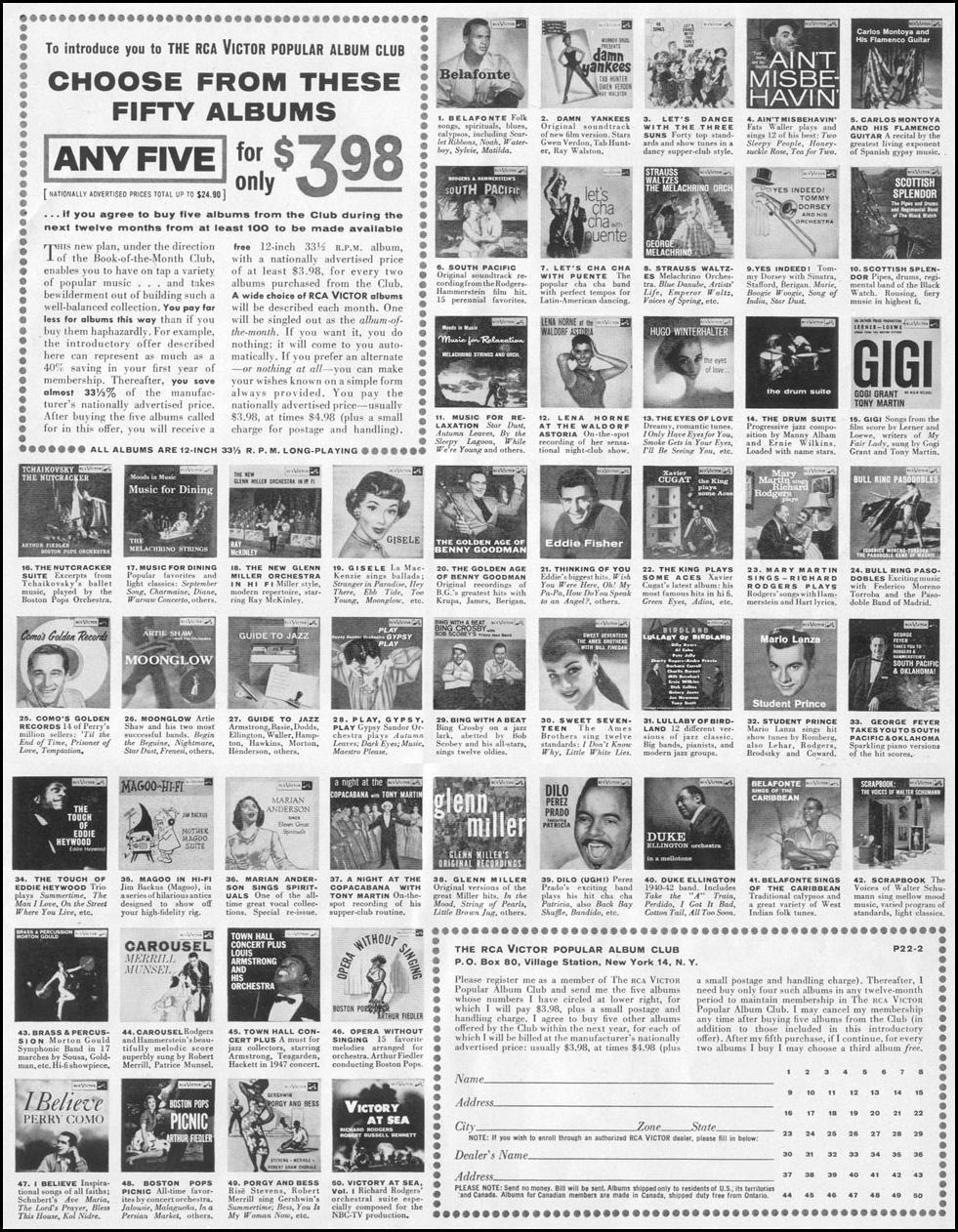 RCA VICTOR POPULAR ALBUM CLUB LIFE 02/09/1959 p. 11
