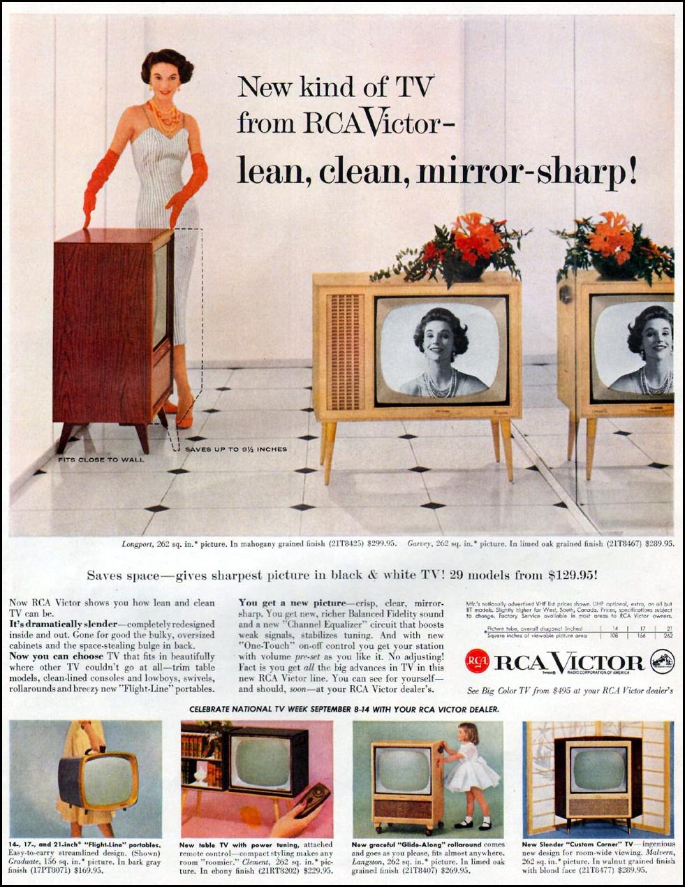 RCA VICTOR TELEVISIONS LIFE 09/09/1957 p. 25