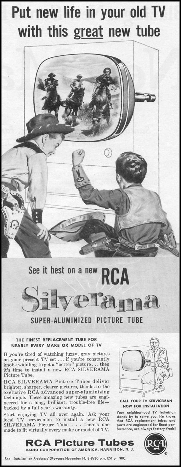 RCA SILVERAMA TV PICTURE TUBE LIFE 11/14/1955 p. 123