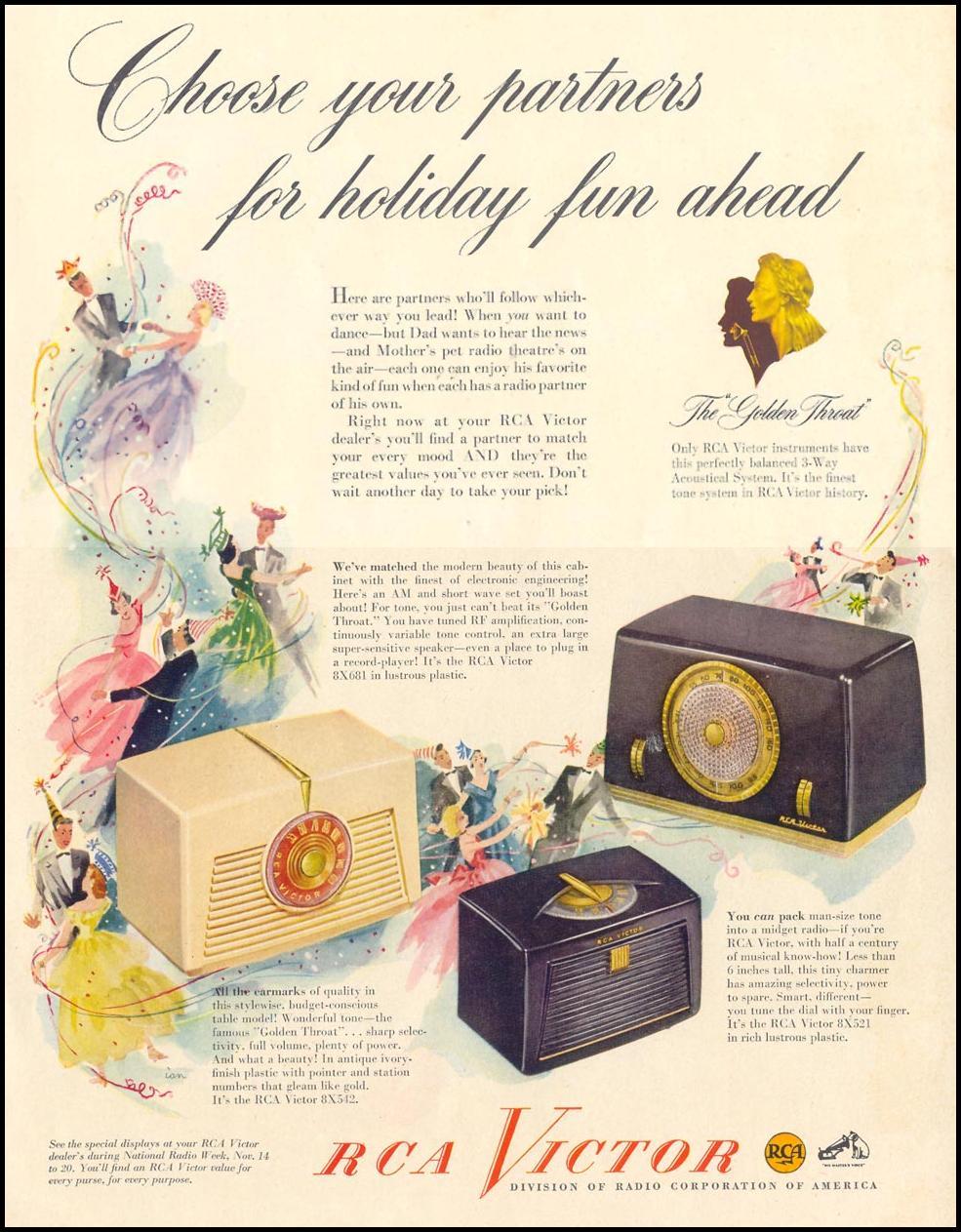 RCA VICTOR RADIOS LIFE 11/15/1948