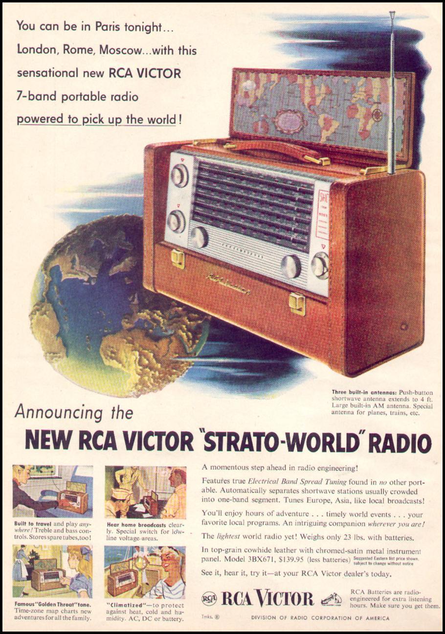 RCA VICTOR STRATO-WORLD 7-BAND PORTABLE RADIO TIME 08/31/1953 p. 22