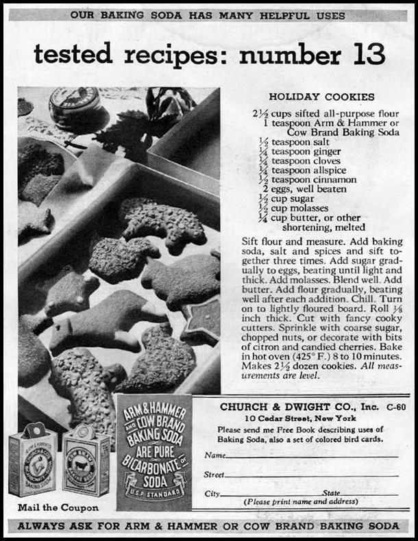 ARM & HAMMER BAKING SODA GOOD HOUSEKEEPING 12/01/1935 p. 187