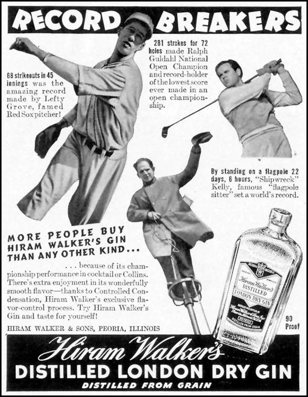HIRAM WALKER'S DISTILLED LONDON DRY GIN LIFE 09/06/1937 p. 112
