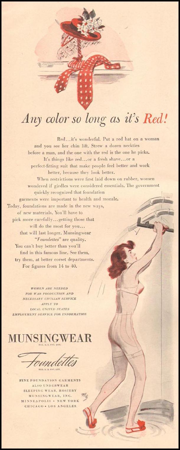 MUNSINGWEAR FOUNDETTES LIFE 10/11/1943 p. 54
