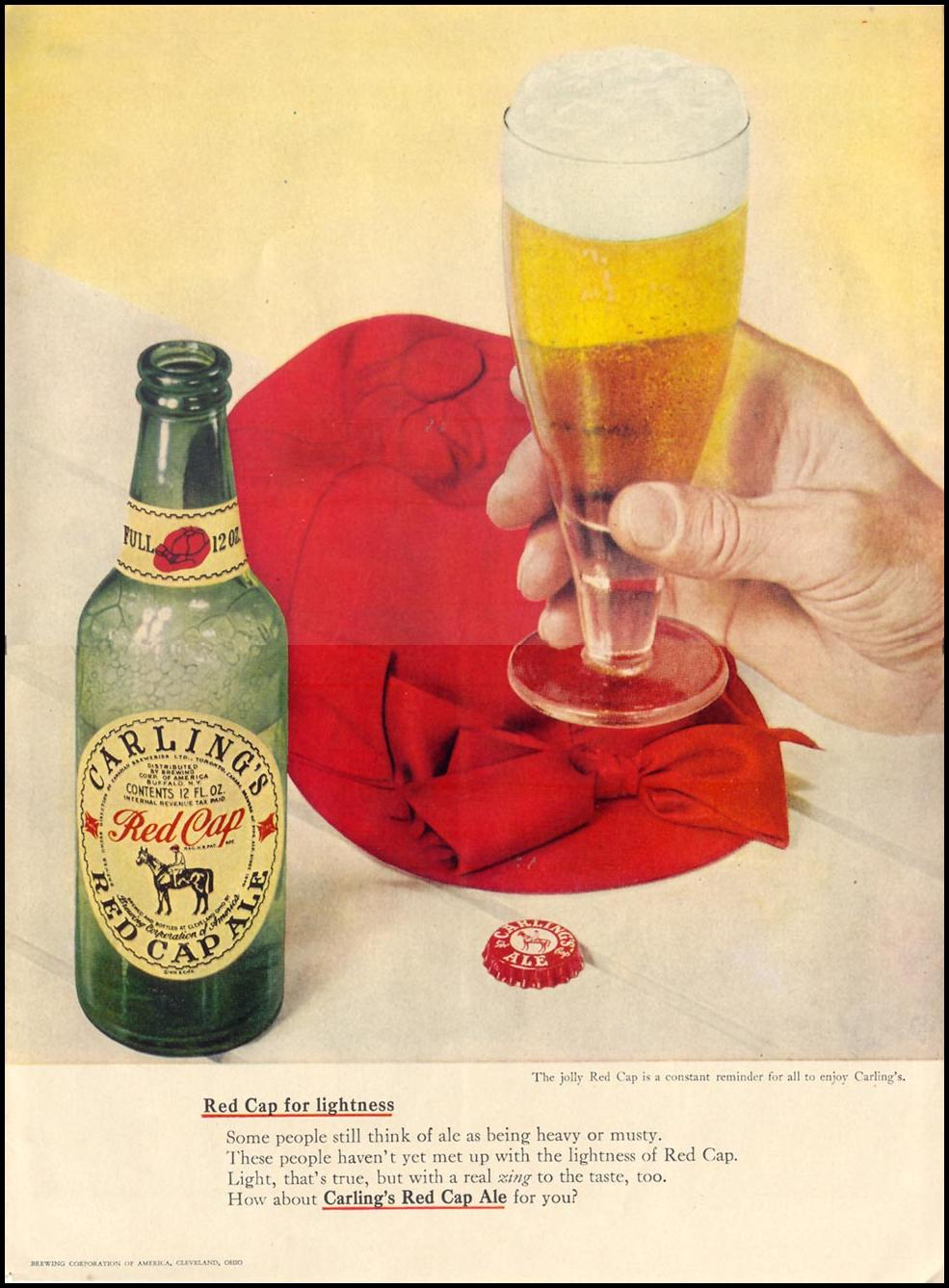 CARLING'S RED CAP ALE LIFE 11/15/1948