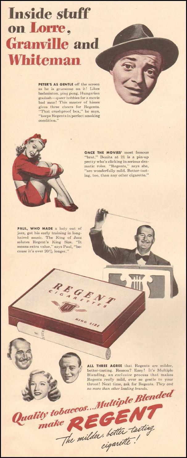 REGENT CIGARETTES LIFE 03/12/1945 p. 64
